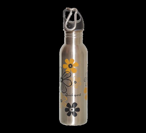 Nerezová fľaša flower 750 ml