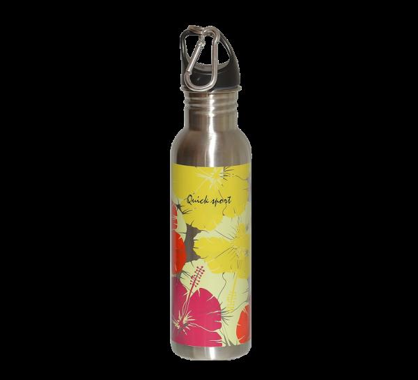 Alu nerezová fľaša flower print 50 ml